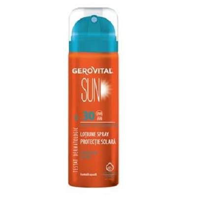 Loțiune spray protecție solară SPF30, 150ml, Gerovital Sun