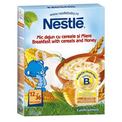 Mic dejun cu cereale și miere, +12 luni, 250 g, Nestle