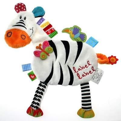 Minipaturica senzoriala de somn si joaca zebra, LLFR1205, Label Label Friends