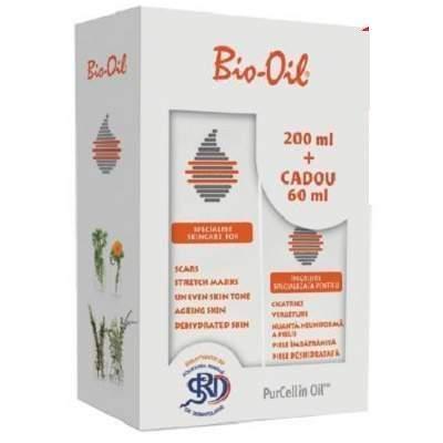 Pachet Bio Oil, 200 ml + 60 ml Cadou