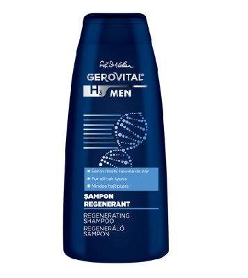 Ofertă pachet - șampon regenerant și șampon anti-mătreață, Gerovital H3 Men