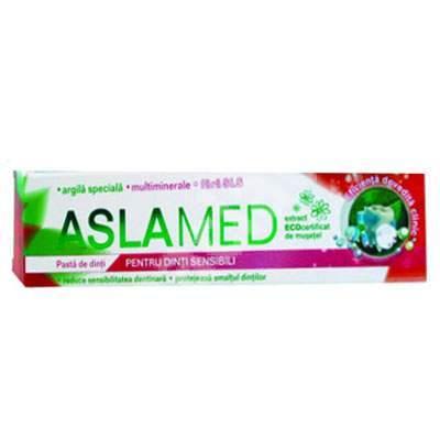 Pastă de dinți pentru dinți sensibili, AslaMed, 75 ml, Farmec