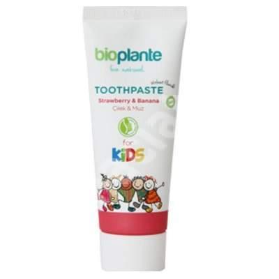 Pasta de dinti pentru copii cu banane si capsuni, +3 ani, BioPlante