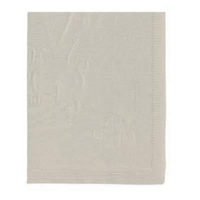 Paturica tricotata din bumbac, 95x95 cm, Crem, Pirulos