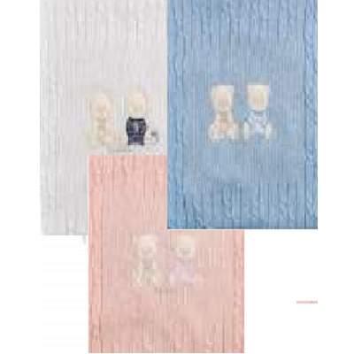 Paturica tricotata Ursuleti, +0luni, 70x80cm, Andy & Helen