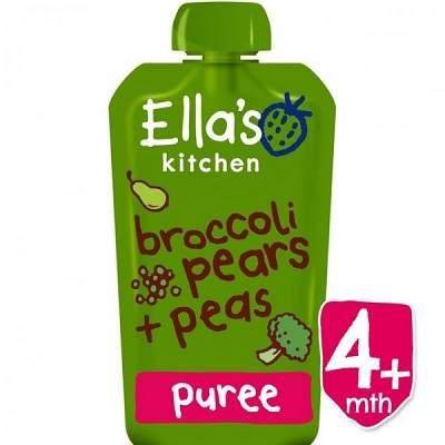 Piure Eco din brocoli, para si mazare, +4luni, 120g, Ella's Kitchen