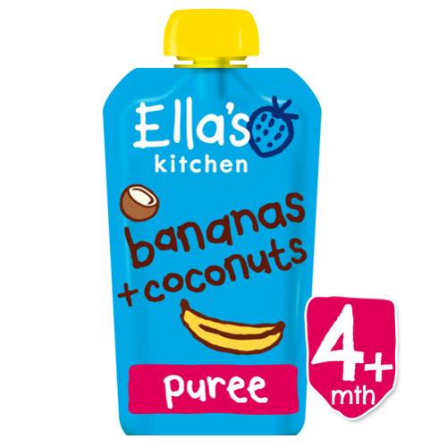 Piure Pouch Bio din banana si cocos, 120 g, Ella s Kitchen