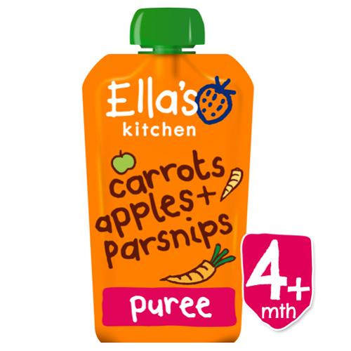 Piure Pouch Bio din morcov, mar si pastarnac, 120 g, Ella s Kitchen