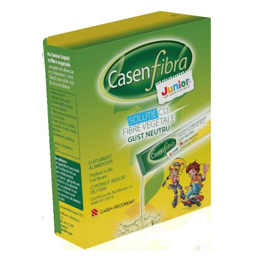 Prebiotic soluție Junior, 14 plic, CasenFibra