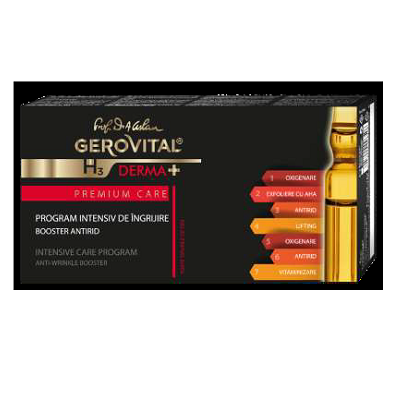 Program intensiv îngrijire antirid Gerovital H3 Derma+Premium Care, 14ml, Farmec