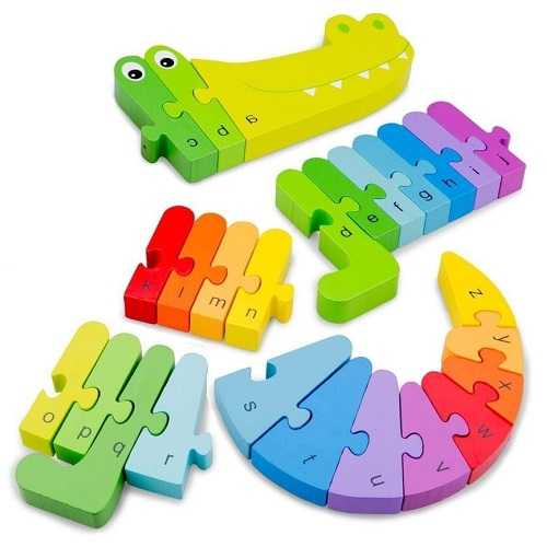 Puzzle Crocodil Alfabet, New Classic Toys