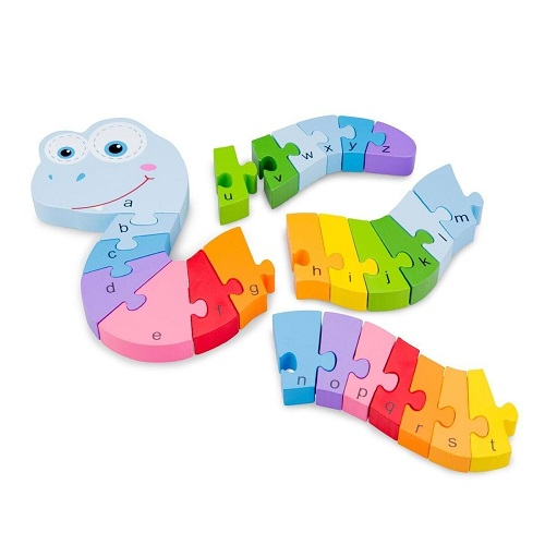 Puzzle Sarpe Alfabet, New Classic Toys