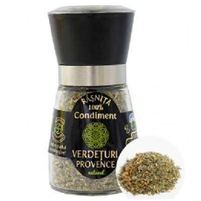 Râșnița Condimente - Verdețuri de Provence, 45g, Pirifan