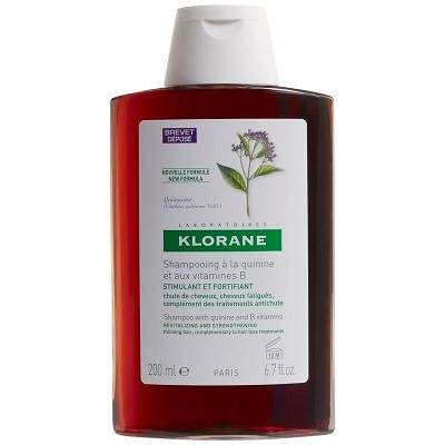 Șampon cu chinină și Vitamina B6, 200 ml, Klorane