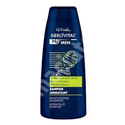 Șampon hidratant Gerovital H3 Men, 400 ml, Farmec