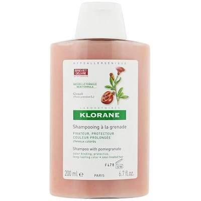 Șampon păr vopsit cu extract de rodie, 200 ml, Klorane