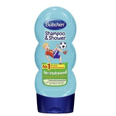 Șampon și gel de duș, Sports Friends, 230 ml, Bubchen