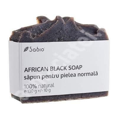 Săpun natural pentru pielea normală African Black, 130 g, Sabio