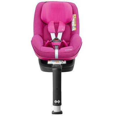Scaun auto 2wayPearl Frequency Pink și bază auto 2wayFix, +6luni, Maxi-Cosi