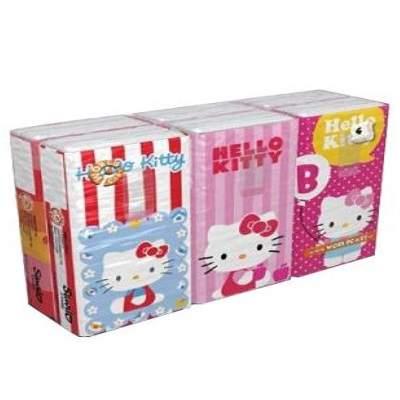 Șervețele batiste uscate Hello Kitty, 6pch