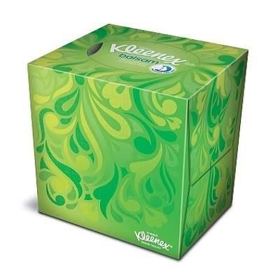 Șervețele faciale Box Balsam Cube cu balsam de gălbenele, 56 bucăți, Kleenex