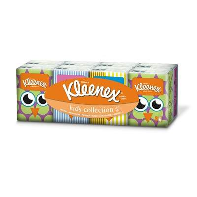 Șervețelele Kleenex MINI Kids Collection bastiste igienice uscate, 8pch, Kleenex