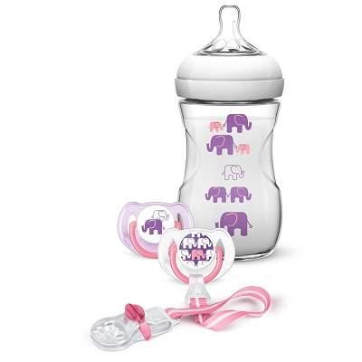 Set cadou cu elefanti pentru fete, SCD628/01, Philips Avent