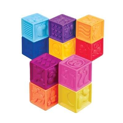 Set cuburi moi, +6 luni, By Toys