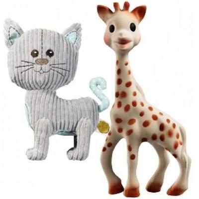 Set plus Pisica Lazare si Girafa Sophie, Vulli