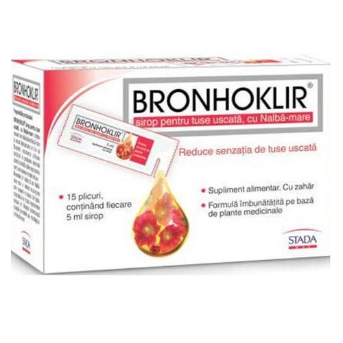 Sirop impotriva tusei uscate Bronhoklir, 15x5ml, Stada