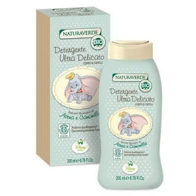 Soluție de curățare Bio delicată pentru corp și păr Dumbo, 200 ml, NaturaVerde