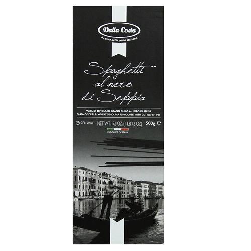 Spaghete cu cerneala de Sepia, 500g, Dalla Costa