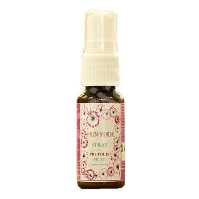 Spray cu propolis și miere - Apihemoroidal, 20 ml, Prisaca Transilvania