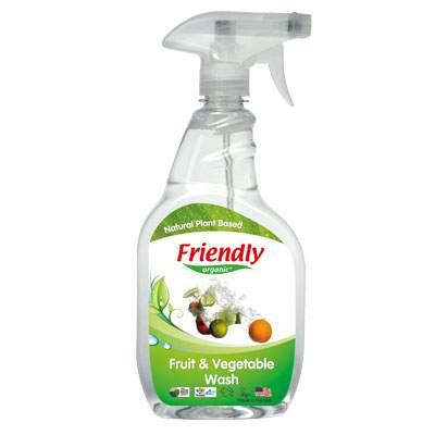 Spray bio pentru spălarea fructelor și legumelor, 650 ml, Friendly Organic