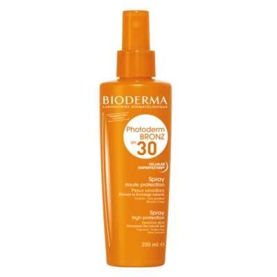 Spray protecție solară Photoderm Bronz SPF 30, 200 ml, Bioderma