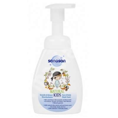Spumă de curățare pentru corp și fața pentru băieți, 250 ml, Sanosan