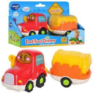 Tractor cu remorca Toot Toot Drivers, +1an, VT152303, Vtech