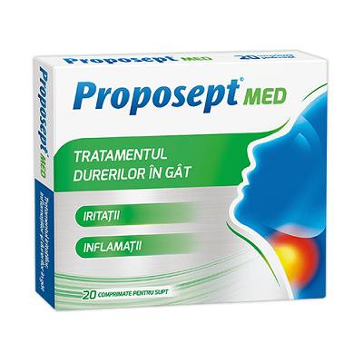 Proposept Med Tratamentul durerilor în gât, 20 cpr, Fiterman