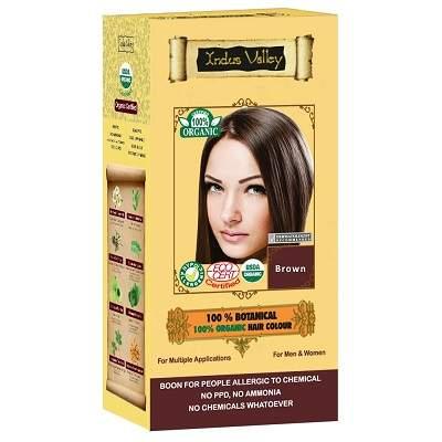 Vopsea de păr 100% vegetală bio, nuanță Brown, Indus Valley