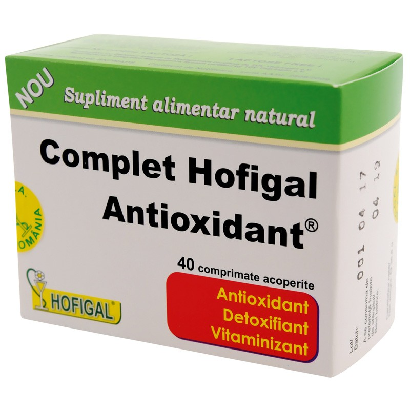 Complex antioxidant, 40 comprimate, Hofigal