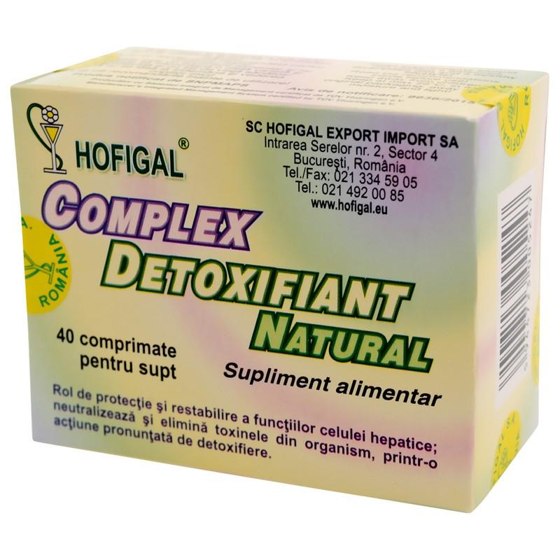 Complex detoxifiant natural, 40 comprimate, Hofigal
