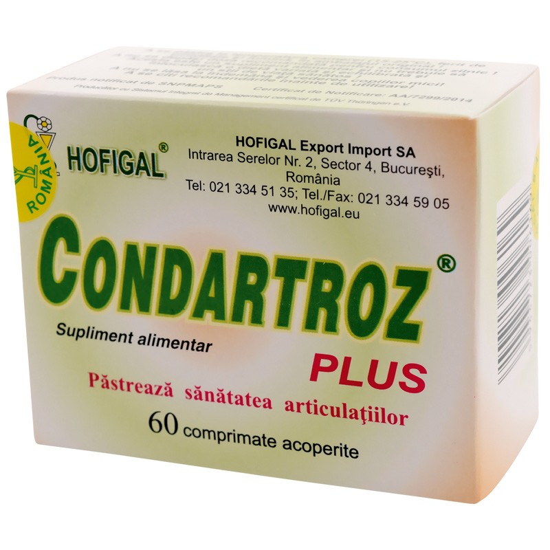 Condartroz Plus, 60 comprimate, Hofigal