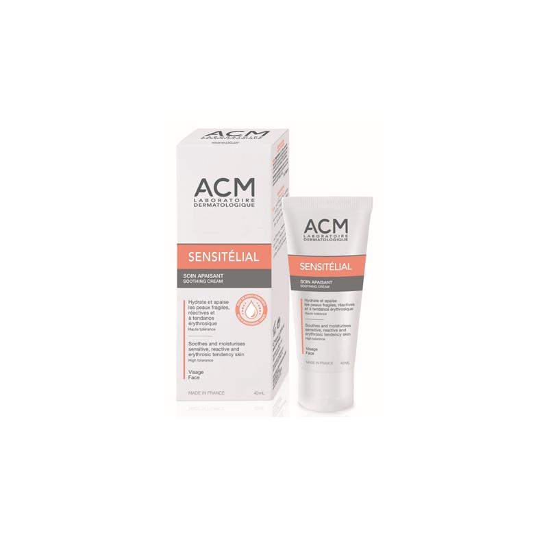 Crema calmanta pentru piele iritata Sensitelial Soothing, 40 ml, Acm