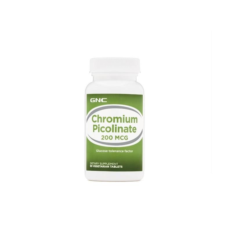 Crom Picolinat 200 MCG, 90 tablete, 576166, GNC