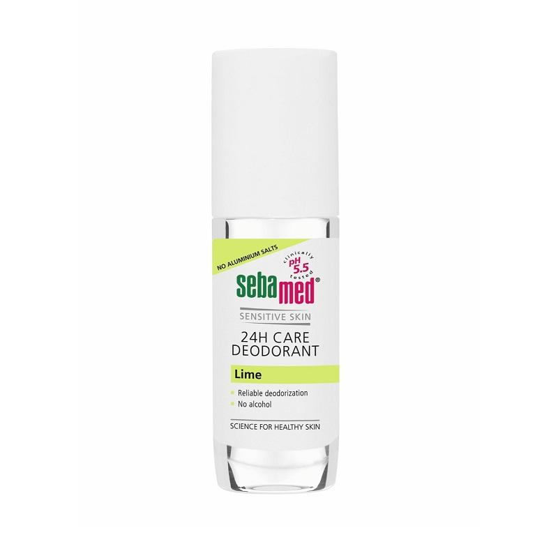 Deodorant balsam roll-on 24h, Lime, 50 ml, SebaMed