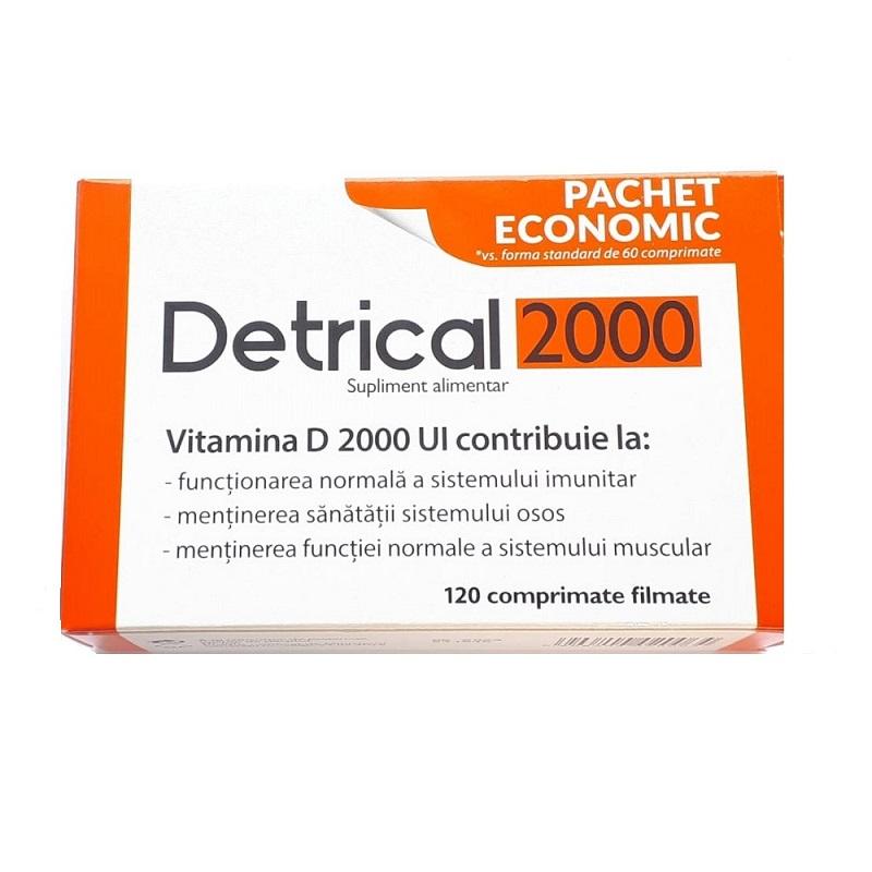 Detrical Vitamina D 2000UI, 120 comprimate filmate, Zdrovit