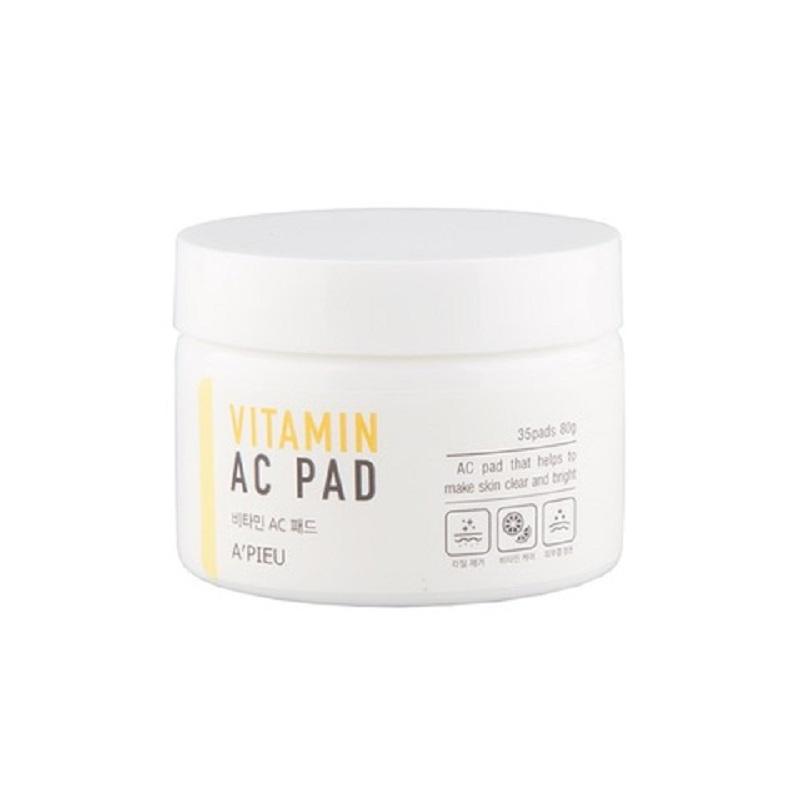 Dischete umede cu vitamina C pentru luminozitate, 80g, A'pieu
