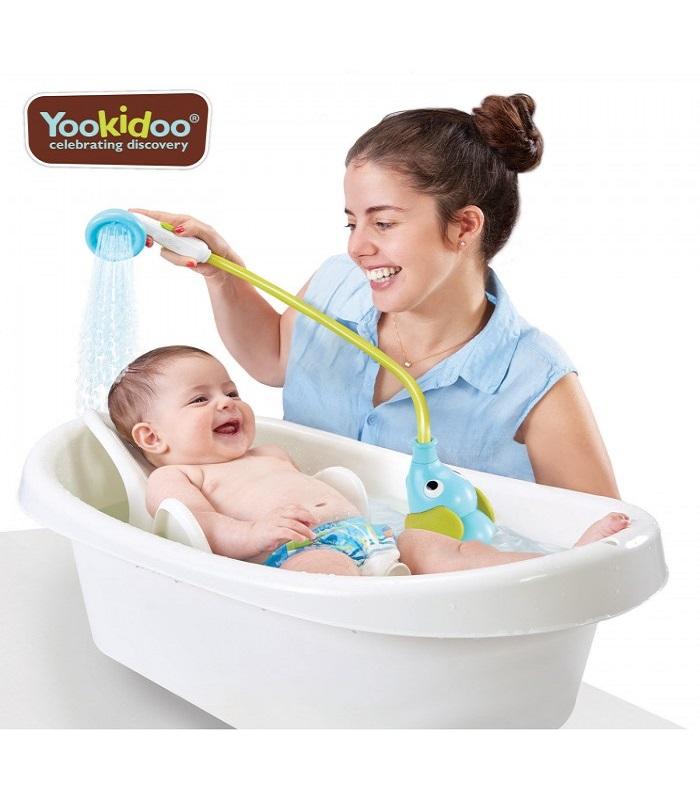 Dus portabil pentru bebeluși și copii, în formă de elefant- Bleu, 40159, 0-24 luni, Yookidoo