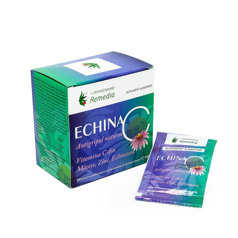 Echina C 100mg, 20 plicuri, Remedia