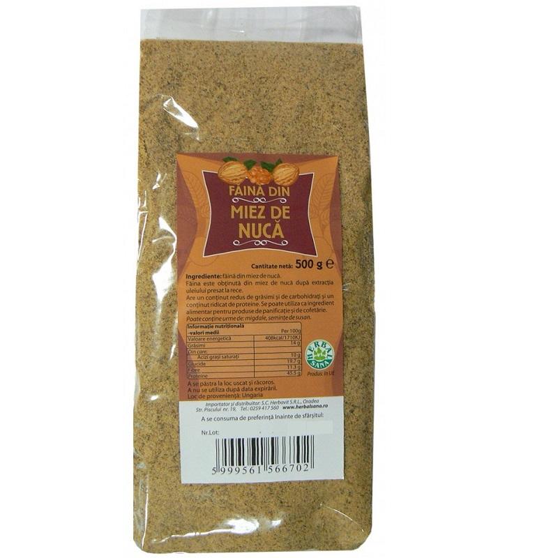Faină de miez de nucă, 500 g, Herbal Sana